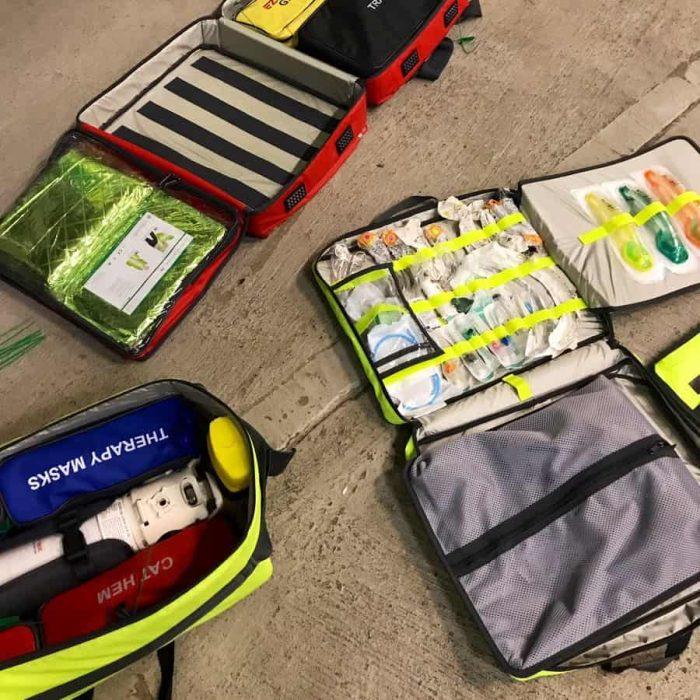 A SCRAM bag in use